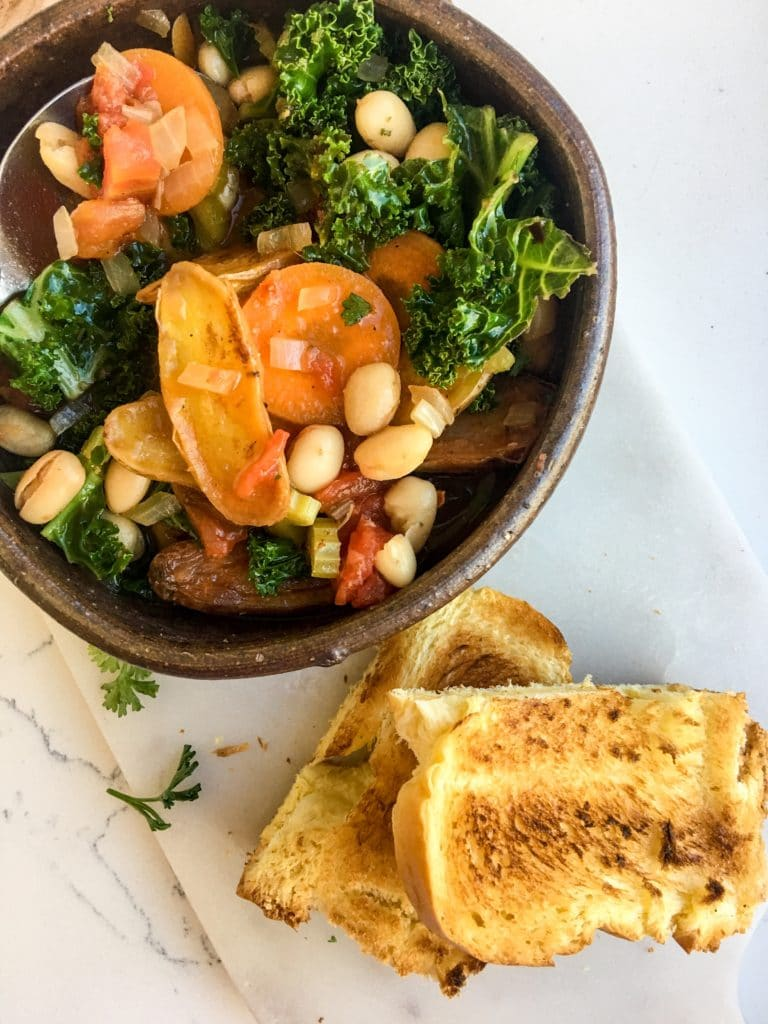 Vegetarian Stew with Crispy Fingerling Potatoes, A Healthyish Brands Recipe