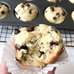 Healthyish Brand, Gluten Free Banana Chocolate Chip Morning Muffins