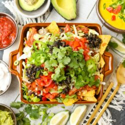 Loaded Vegan Nachos and Queso Cheese - Healthyish Foods
