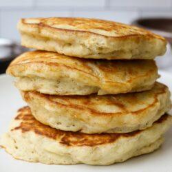 One Bowl Vegan Banana Oat Pancakes - Healthyish Foods
