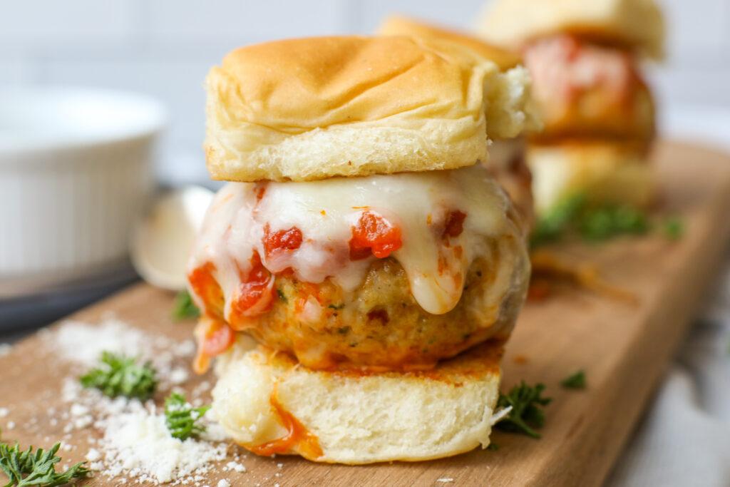 Chicken Parmesan Meatball Slider - Healthyish Foods