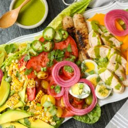Cobb Salad with Cilantro Lime Dressing – Healthyish Foods