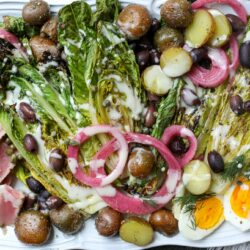 Grilled Tuna Niçoise Salad with Sweet & Tangy Dressing - Healthyish Foods