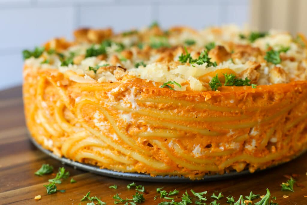 Plant-Based Bucatini Pie - Healthyish Foods