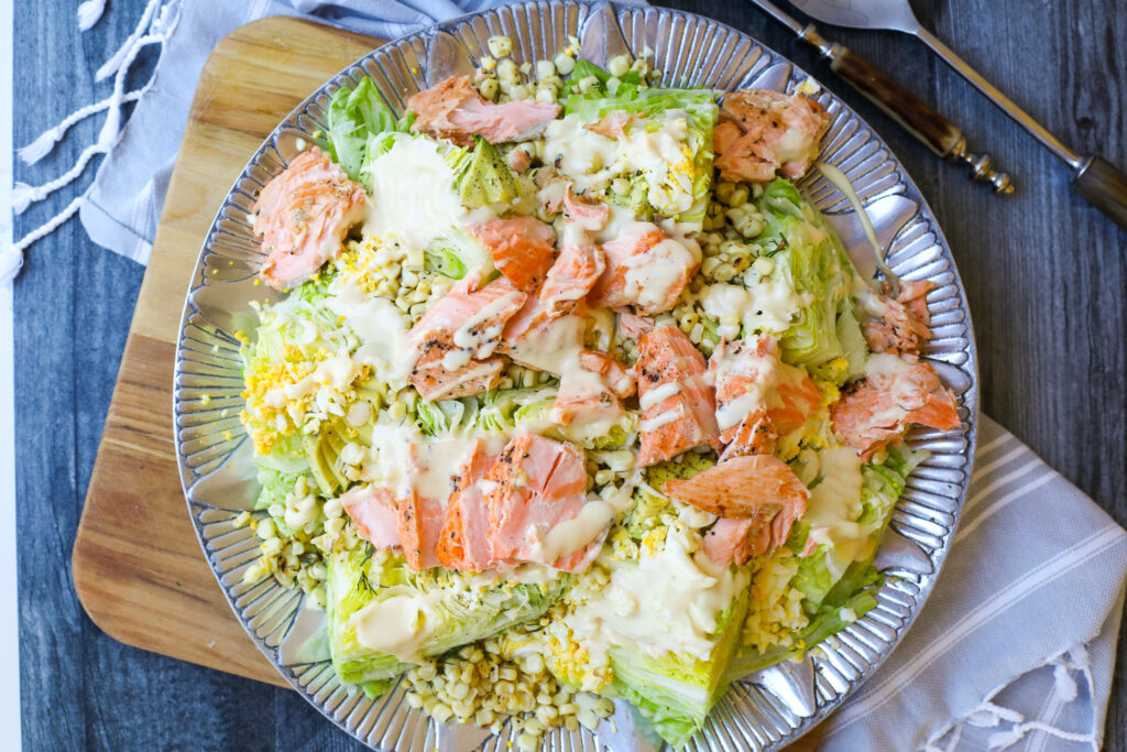 Salmon Wedge Salad and Honey Mustard Dressing – Healthyish Foods