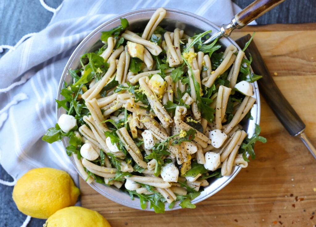 Whole Wheat Casarecce Pasta Salad - Healthyish Foods