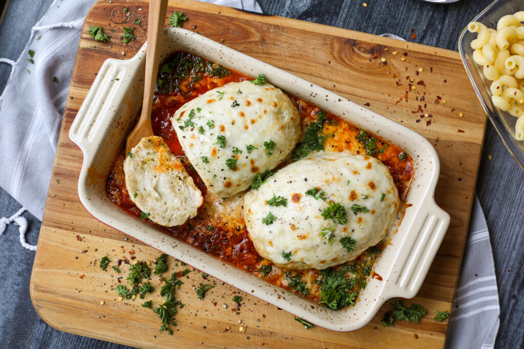 Chicken Parmesan Mini Meatloaves- Healthyish Foods