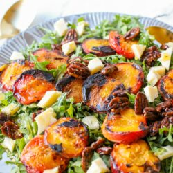 Family Style Grilled Peach Salad – Healthyish Foods