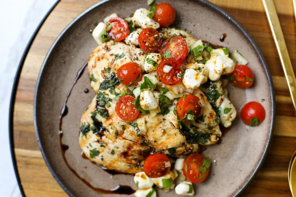 Caprese Grilled Chicken Paillard - Healthyish Foods