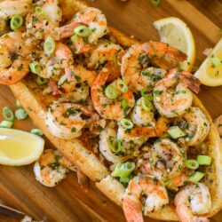 Lemon Garlic Shrimp Boat – Healthyish Foods