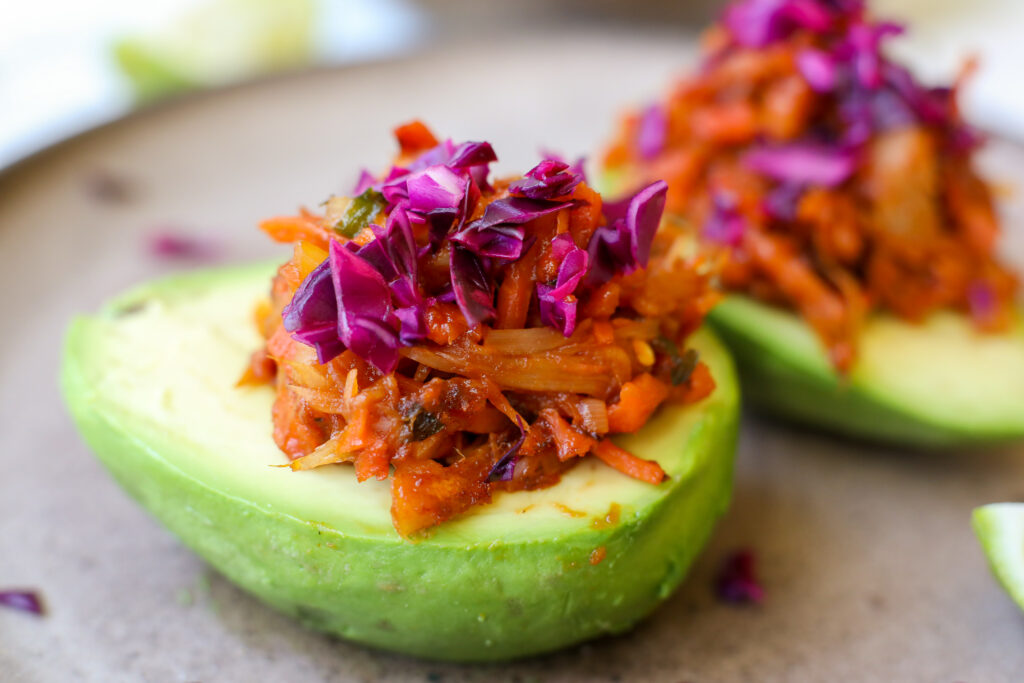 """Plant-Based """"Pulled Pork"""" Cups- Healthyish Foods"""