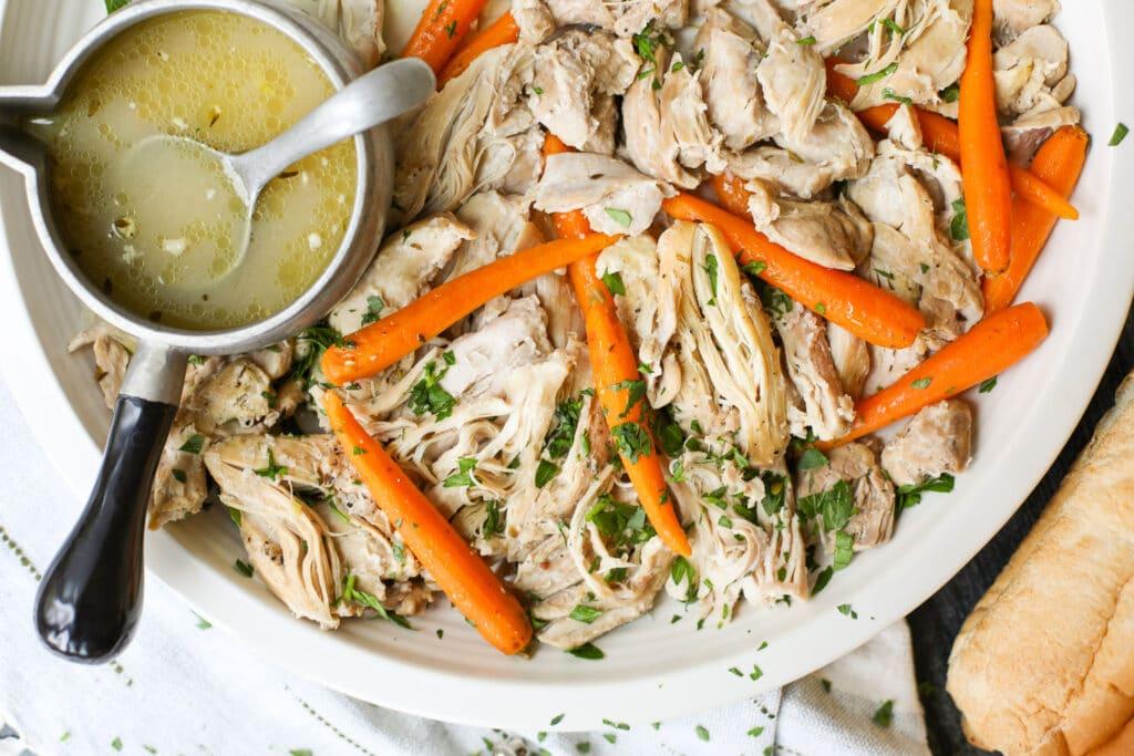 Crock Pot Chicken Thighs- Healthyish Foods