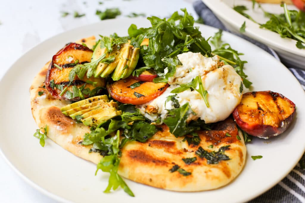 Grilled Peaches and Burrata - Healthyish Foods