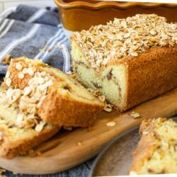 Sour Cream Coffee Cake Loaf – Healthyish Foods