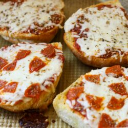 French Bread Pizzas (copycat Red Baron) – Healthyish Foods