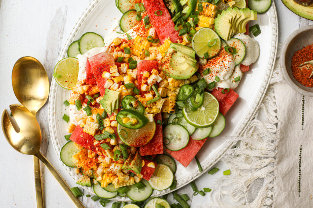 Tajin Watermelon and Whipped Feta Salad – Healthyish Foods