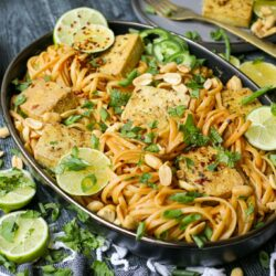 Plant-Based Spicy Tahini Noodles with Crispy Tofu – Healthyish Foods