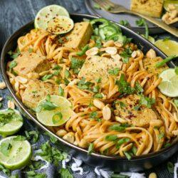 Plant-Based Spicy Tahini Noodles with Crispy Tofu – Healthyish Foods