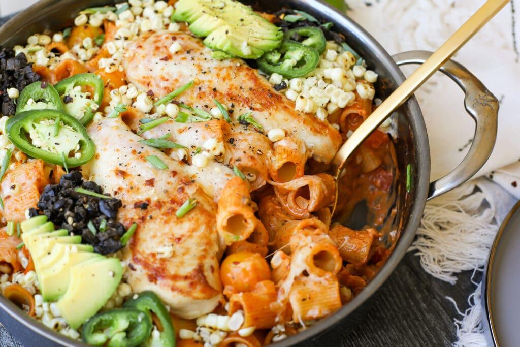 Chicken Enchilada Pasta – Healthyish Foods