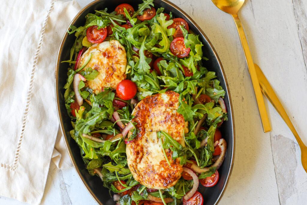 Fried Halloumi Salad -Healthyish Foods