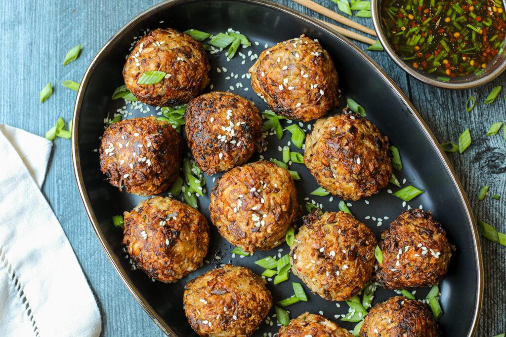 Plant-Based Jackfruit and Shitake Meatballs – Healthyish Foods