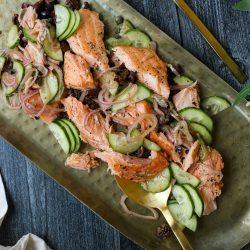 Mediterranean Salmon Salad – Healthyish Foods