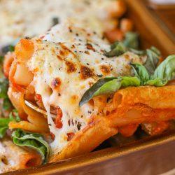 Pomodoro and Ricotta Baked Ziti – Healthyish Foods
