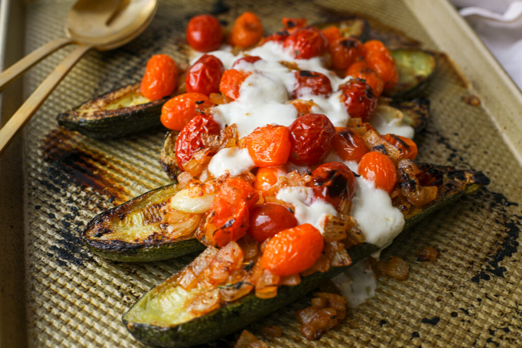 Oven Roasted Zucchini and Tomatoes – Healthyish Foods