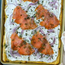 Everything Bagel and Lox Pizza – Healthyish Foods
