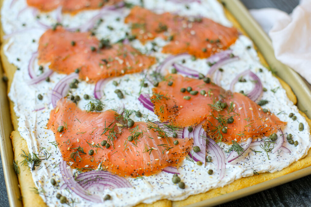 Everything Bagel and Lox Pizza