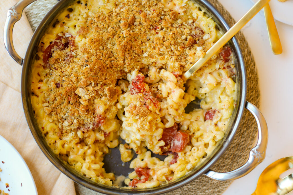 Baked Macaroni n' Cheese with Roasted Tomatoes – Healthyish Foods