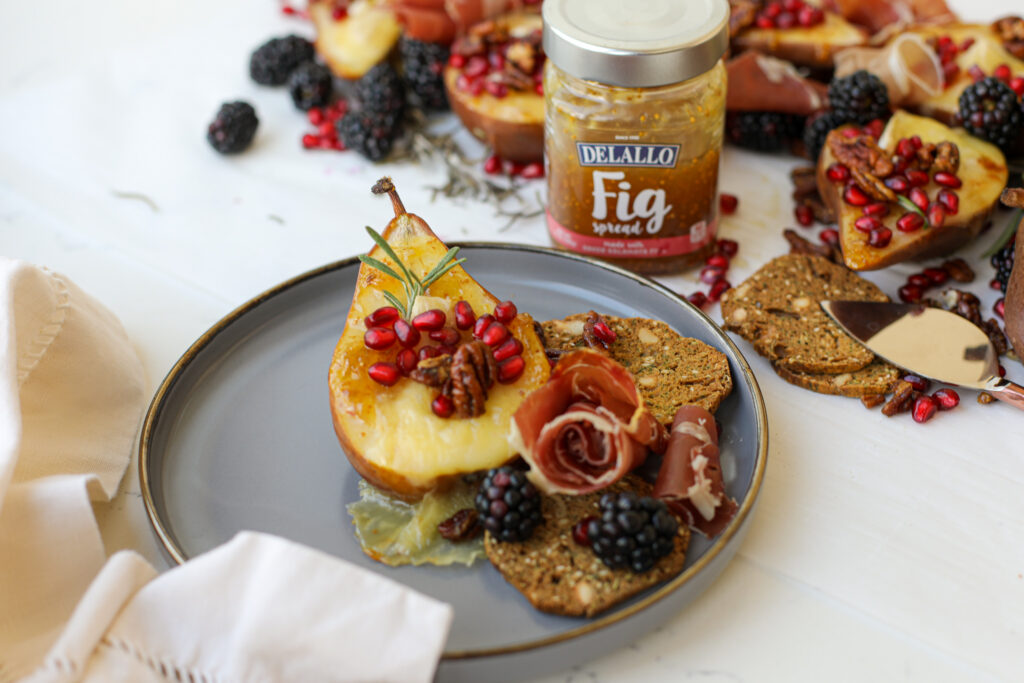 Roasted Pears with Fig Spread and Brie – Healthyish Foods