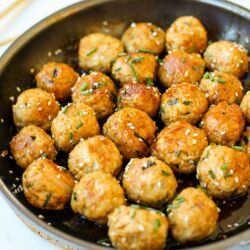 Saucy Asian Meatballs- Healthyish Foods
