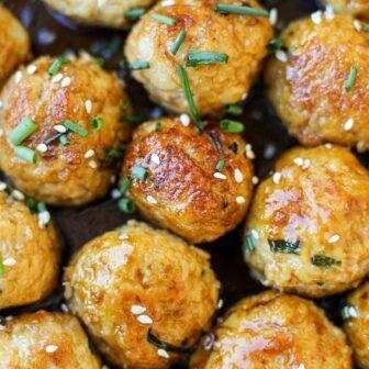 Saucy Asian Meatballs- Healthyish Foods