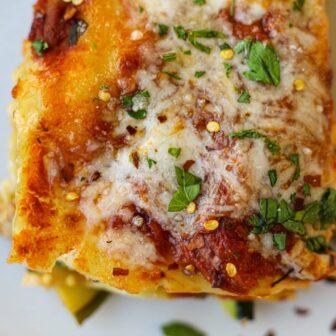 Zucchini Ground Chicken Lasagna – Healthyish Foods