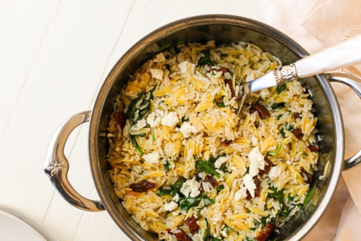 the easiest orzo and rice