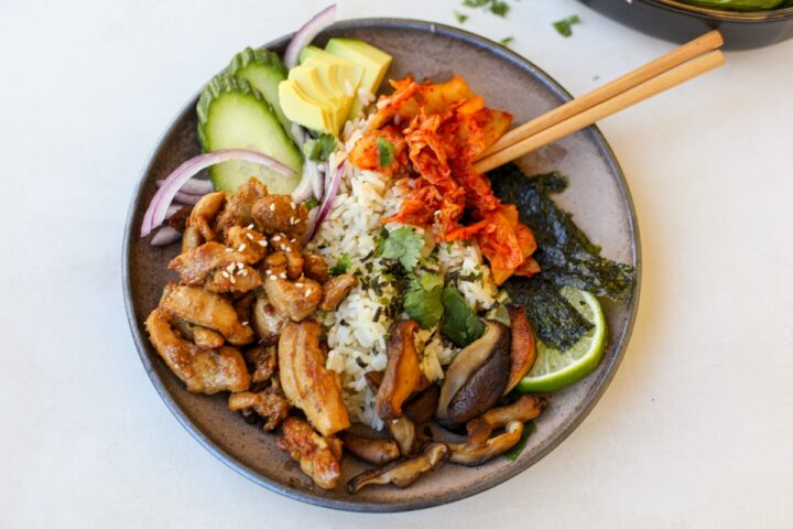 Sticky Chicken Rice Bowl – Healthyish Foods