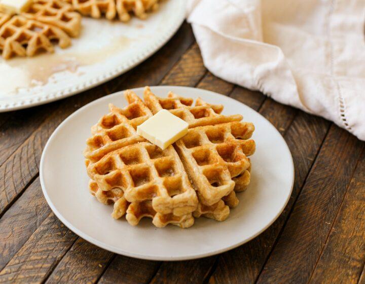 Cinnamon Bun Waffles – Healthyish Foods