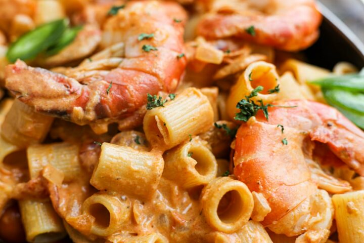 Creamy Cajun Chicken Chorizo and Shrimp Pasta – Healthyish Foods
