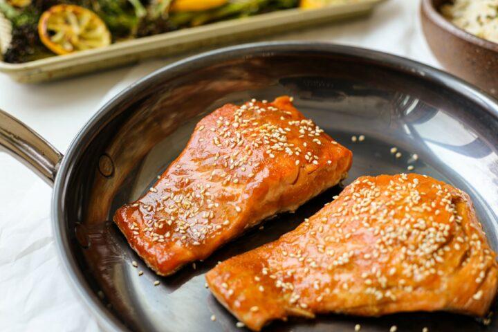 Mustard-Miso Pan Seared Salmon – Healthyish Foods