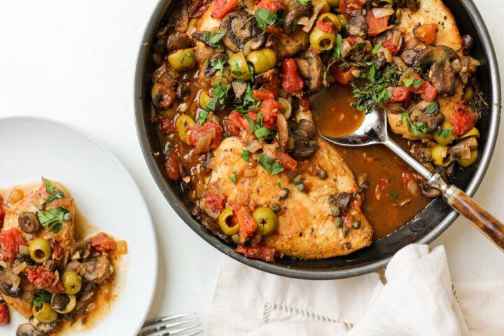 One Pan Chicken Cacciatore – Healthyish Foods