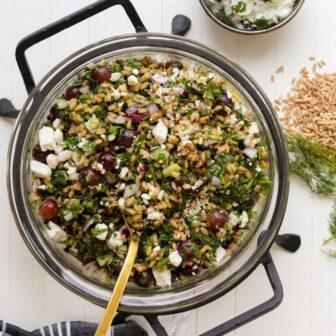 farro salad - healthyish foods