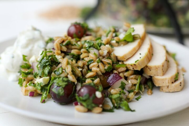 farro salad - healthyish foods