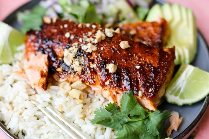 BBQ salmon bowl - Healthyish Foods