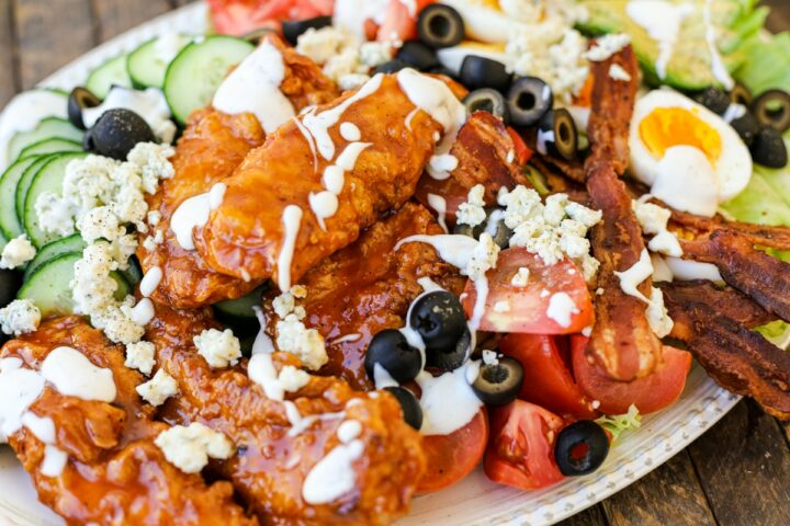 honey sriracha chicken cobb salad
