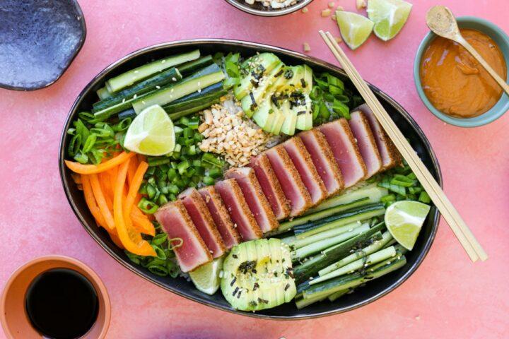 Blackened Ahi Tuna Bowls – Healthyish Foods