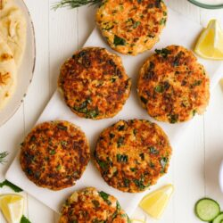 Spinach Salmon Burgers with Whipped Feta – Healthyish Foods