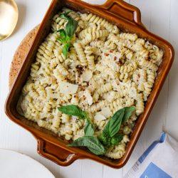 Creamy Pesto Pasta Bake – Healthyish Foods