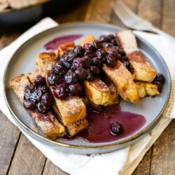 Cinnamon French Toast Sticks with Blueberry Maple Sauce – Healthyish Foods