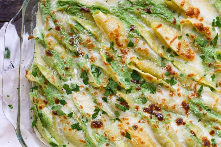 Whipped Spinach & Ricotta Stuffed Shells – Healthyish Foods